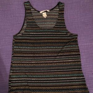 PATTERNED TANK TOP (SIZE XS)
